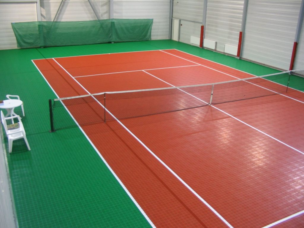 carpet indoor tennis court